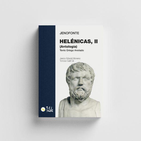 Libro Helénicas II. Jenofonte (texto griego anotado). Editorial Tilde